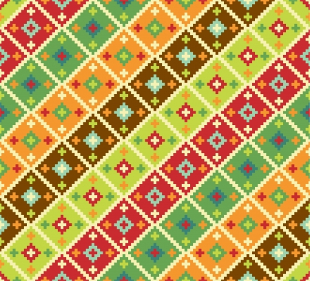 ethnic pattern: Background with ethnic motifs. Seamless pattern Illustration