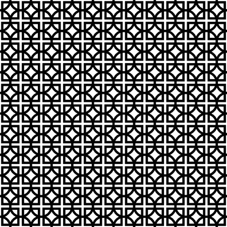 Black and white geometric background.  Vector