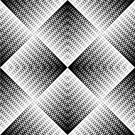 Black and white zigzag pattern. Vector
