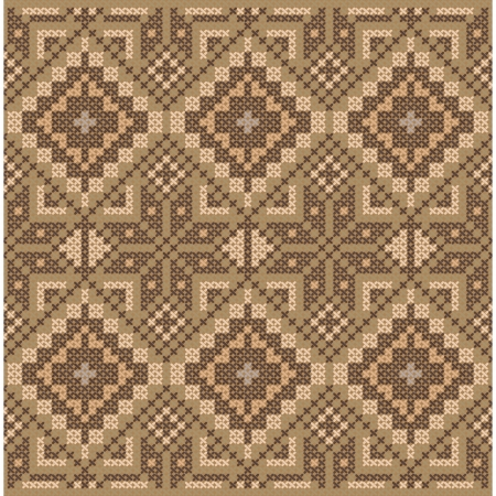 Ethnic cross stitch flourish pattern Vector