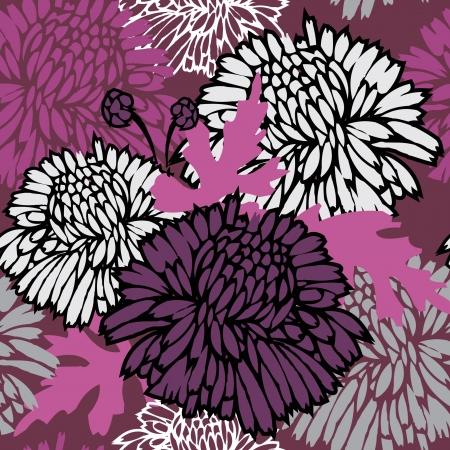 dalia: Patr�n sin fisuras con flores. Fondo floral. Vectores