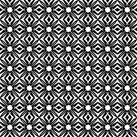 Ethnic background in black and white. Seamless pattern. Vector