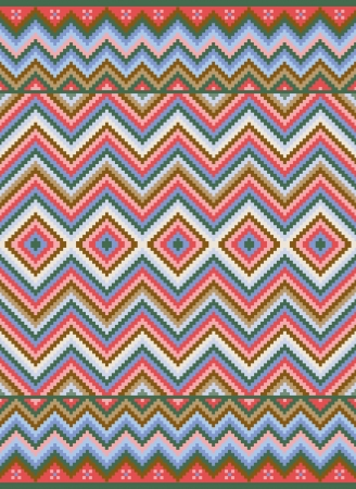 Ethnic background. Zig-zag pattern. Vector