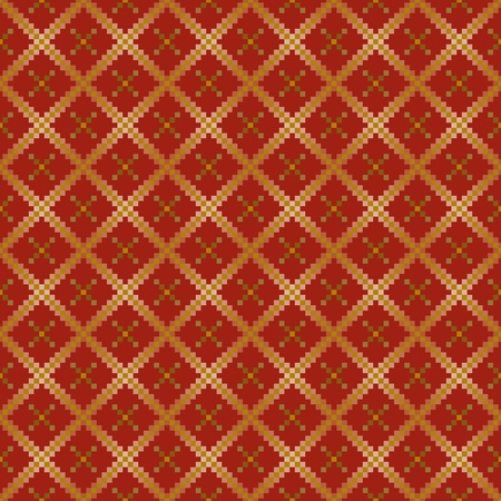Seamless background with red stylized squares Vector