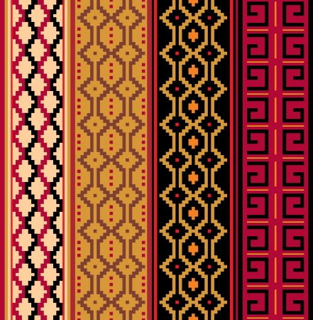 Various strips motifs in natural color Vector
