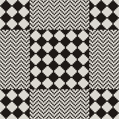 seamless pattern in black and white zig-zag  Vector
