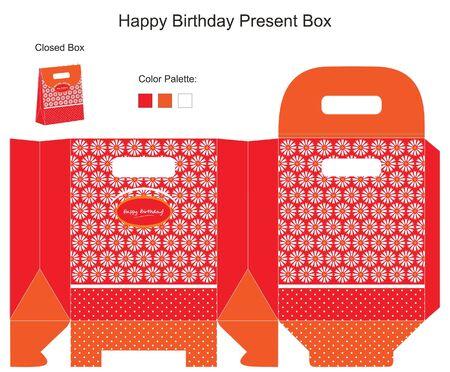 Red and Orange Present Box