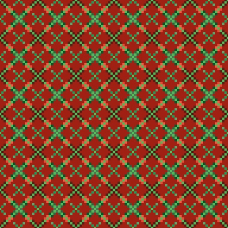 vintage weaving: background series. Seamless pattern with square.