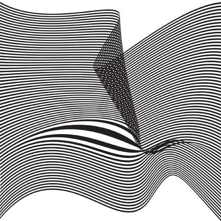 Bird flying. Vector optical effect. Illustration