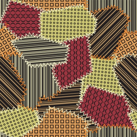 patchwork: Design with patchwork pattern Illustration