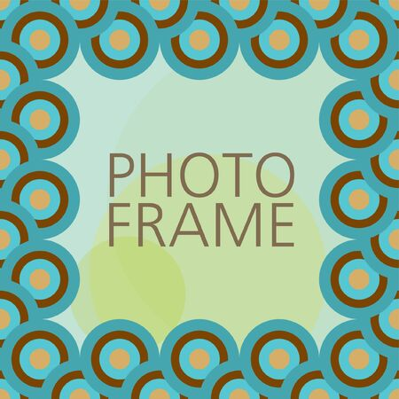 Scrap template with photo frame Vector