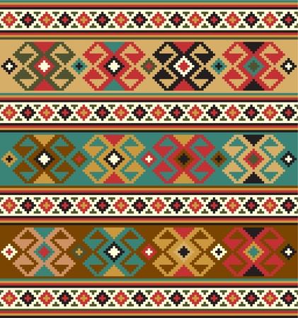 этнический: Фон с этническими мотивами Бесшовные Иллюстрация