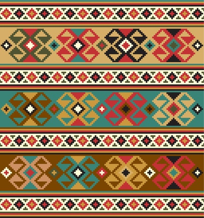 ethnic pattern: Background with ethnic motifs  Seamless pattern