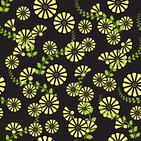 art nouveau design: Seamless floral background  Repeat many times