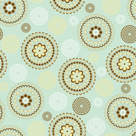 Seamless dots circle in blue and brown Vector