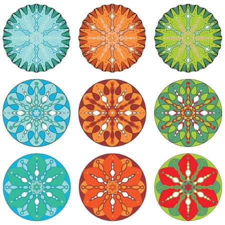 Set of Ornamental Christmas patterns Vector