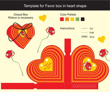 Template gift box for Favors Vector