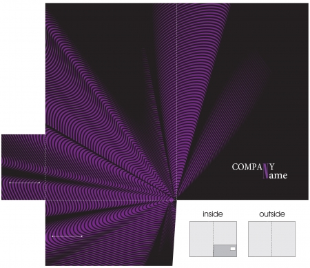 die cut: folder template with abstract background