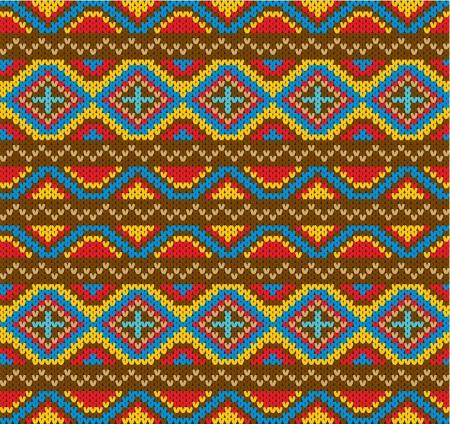 tejidos de punto: De lana de punto de fondo sin fisuras patr�n Vectores