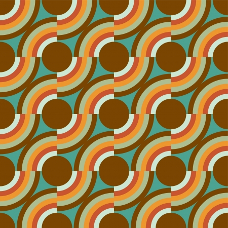 reiteration: Vintage vector background in blue and brown