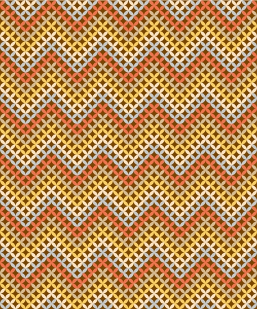repetition: Zig-zag background with Earthtone