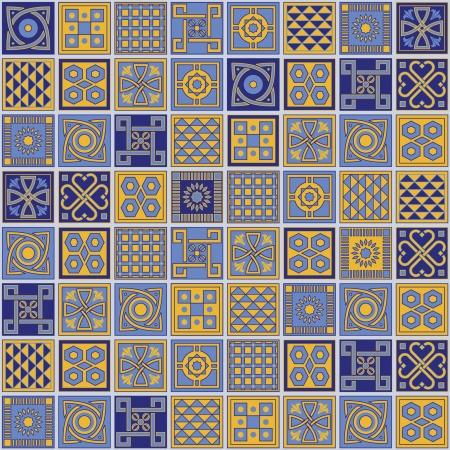 modular: set of Lisbon ceramic models