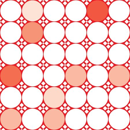 Vecto illustration with red and white dots Vector