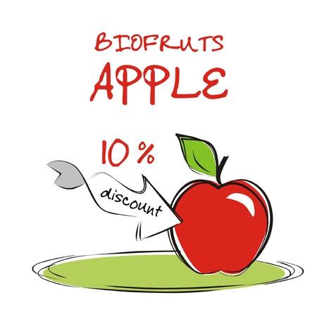 Vaucher discount for organic apple.