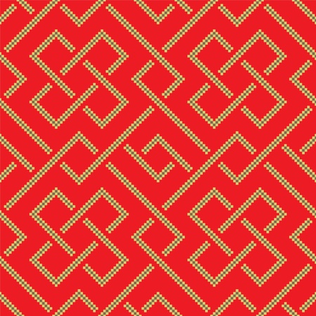 Ethnic pattern background with geometrically elements Vector