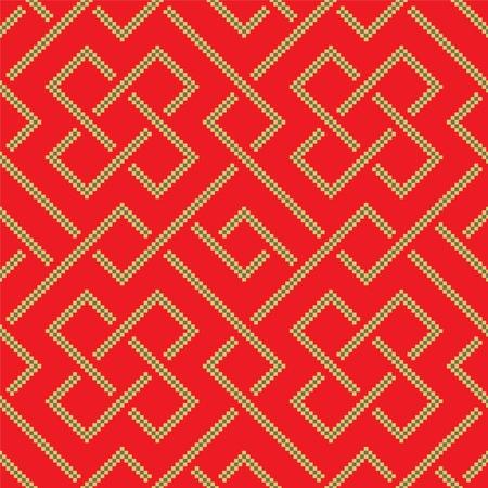 Ethnic pattern background with geometrically elements Illustration