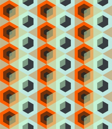 repetitive: Seamless pattern with rhombus  illustration  Illustration