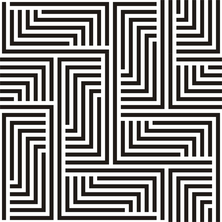 Black and white zigzag pattern Stock Vector - 14806948