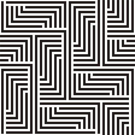 geometricos: Zigzag blanco y negro patrón