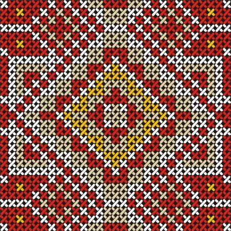 punto cruz: Seamless buen bordado hecho a mano como punto de cruz patr�n �tnico