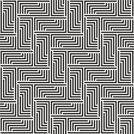 Modèle en zigzag illustration en noir et blanc