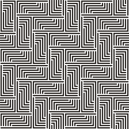 Pattern in black and white zigzag illustration  Vector
