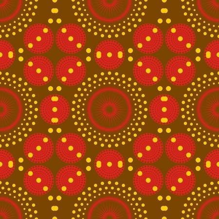 indigen: African background  Seamless vector illustration  Illustration