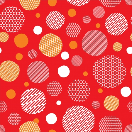 Red background with dots pattern  Vector illustration