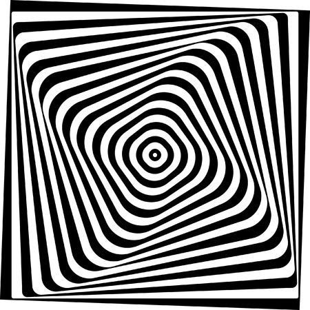 tunnel vision: Optical illusion  Black and white vector illustration  Illustration