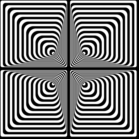 Optical illusion  Black and white vector illustration  Stock Vector - 15065092