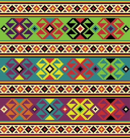ukrainian: Background with ethnic motifs  Seamless pattern
