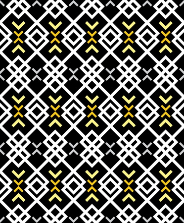 Pattern in zigzag - black and white background  Illustration