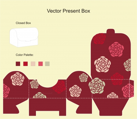 box template: Template for gift box good for cookies and candy