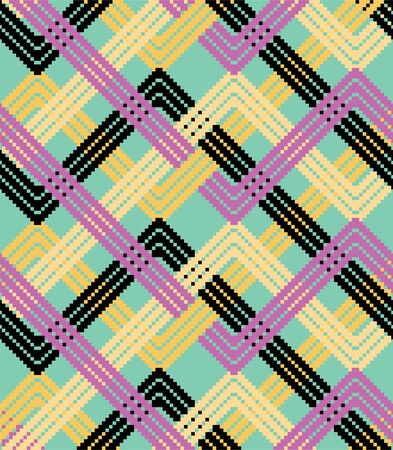 Colorful zigzag background. Vector illustration pattern.