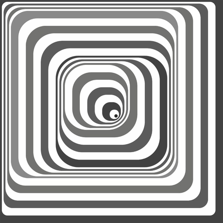 Black and white optical illusion. Vasarely optical effect. Vector