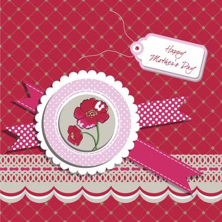 Mothers Day greeting card Stock Vector - 17607425