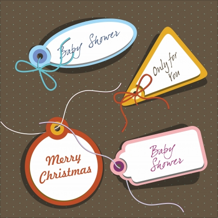 Labels set for different social events Vector