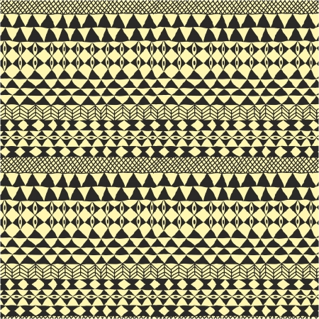 ethnic pattern: Geometrical black and white ethnic abstract design
