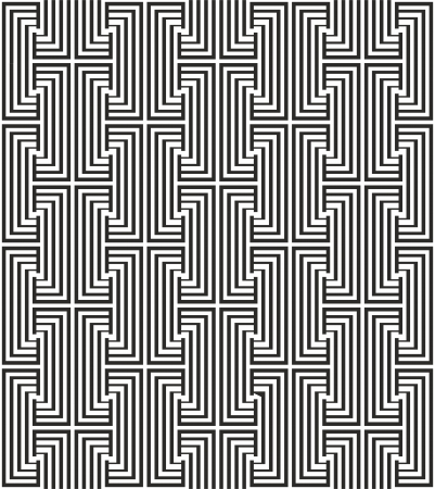 Zigzag pattern with black and white line Vector