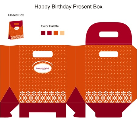 Happy Birthday Present Box Vector